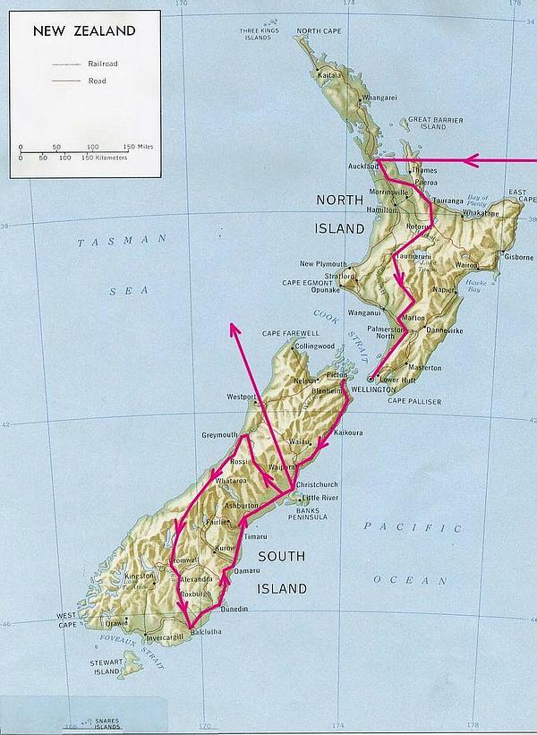 Itinéraire voyage Nouvelle-Zélande