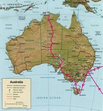 Itinéraire voyage australie